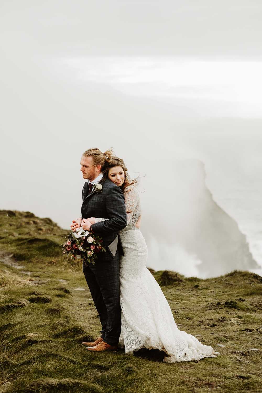 Europe Elopement Photographer Wild Connections Photography in Ireland at the Cliffs of Moher