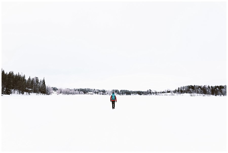 Frozen Lake Levi Lapland
