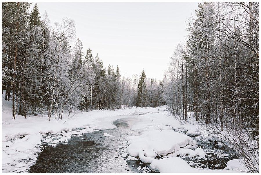 Frozen River Levi Lapland