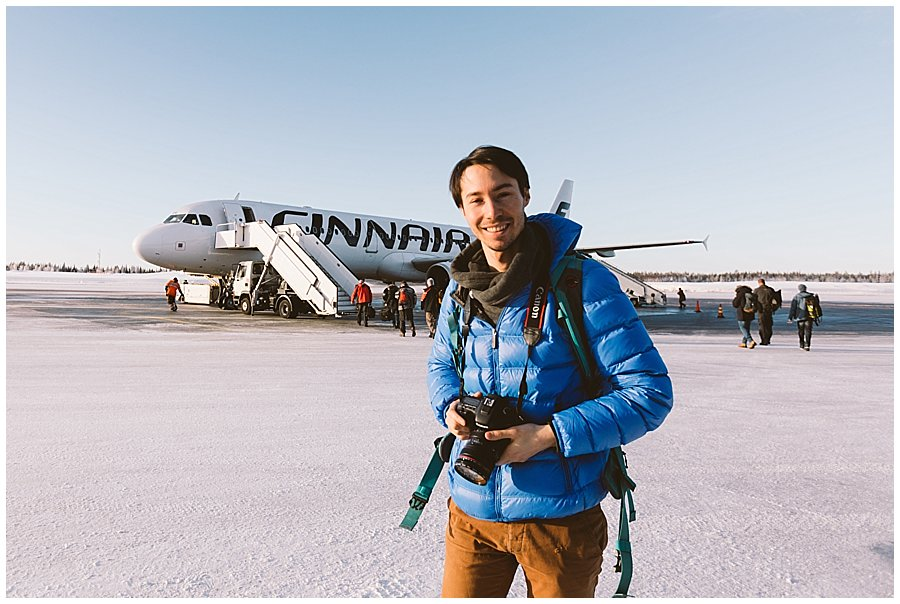 Finnair Lapland aeroplane at Kittila airport by wild connections photography
