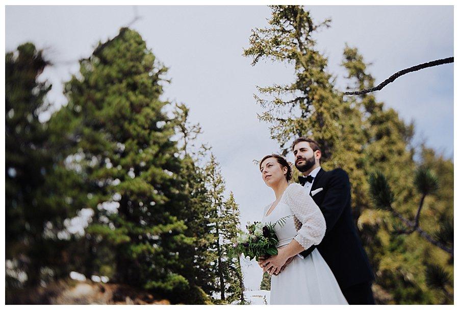 Susana and Tiago amongst the trees