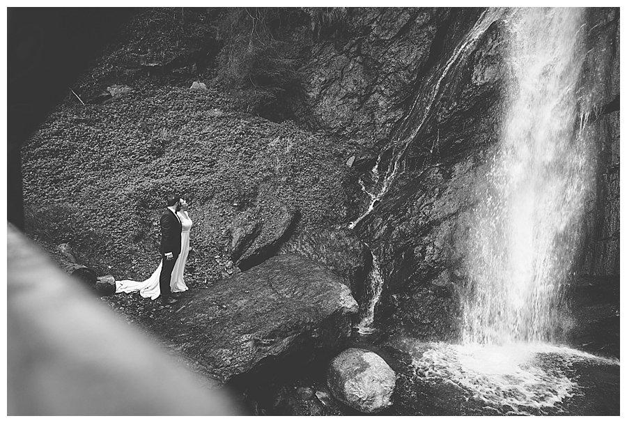 Waterfall Wedding Portraits