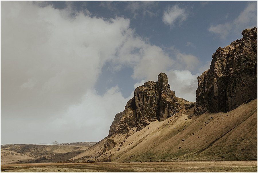 A picture of the landscape on the south coast of Iceland