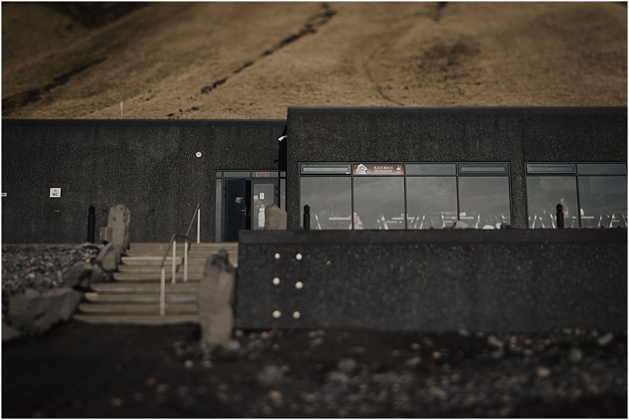 Black beach cafe in Iceland