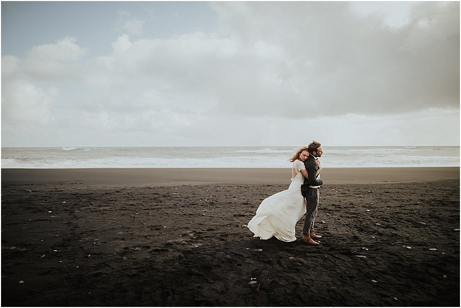 Iceland Black Beach Wedding Photography