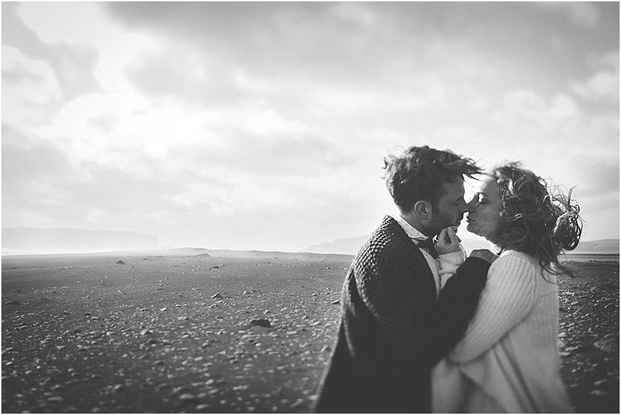 Iceland Black Beach Wedding