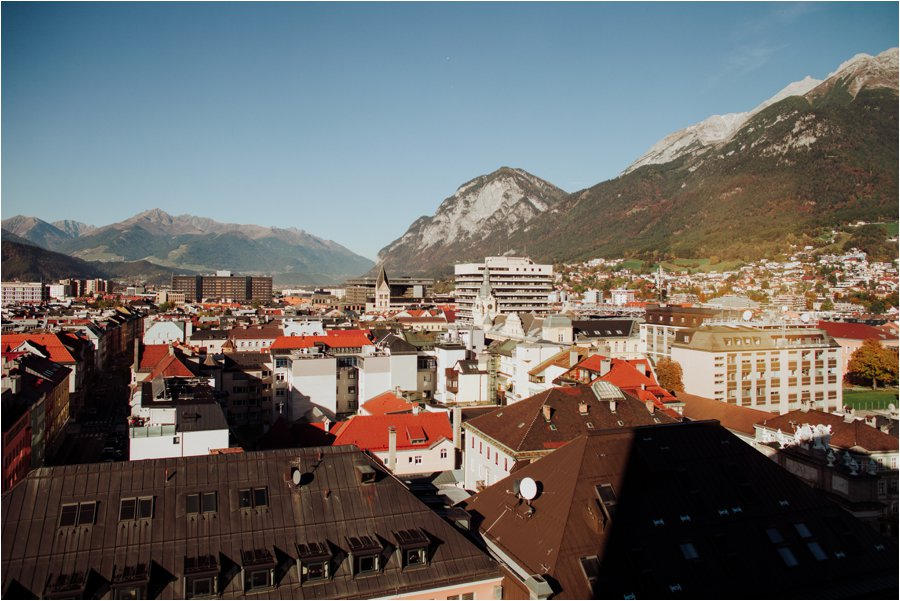 A view across Innsbruck from the Hilton Hotel by Wild Connections Photography
