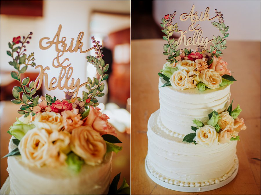 Kelly & Arik's wedding cake by Olivia's Cake Designs by Wild Connections Photography