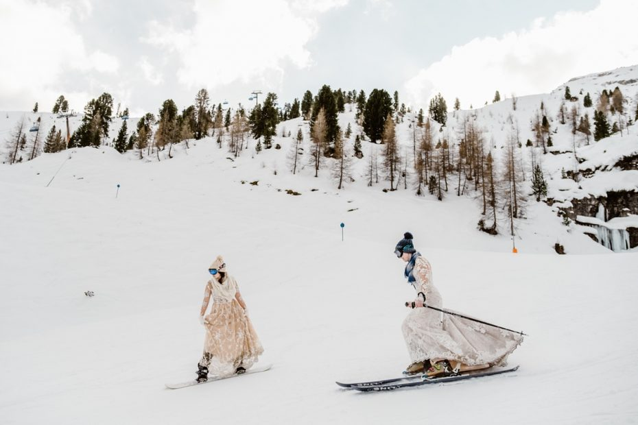 LGBT Winter elopement in Tyrol Austria by Wild Connections Photography