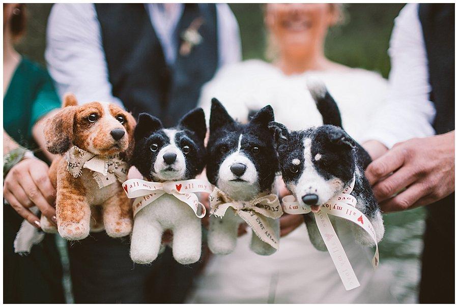 Mountain Wedding Shelter Pups