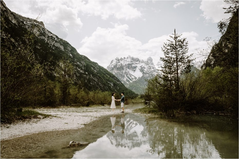 Dolomites adventure pre-wedding engagement