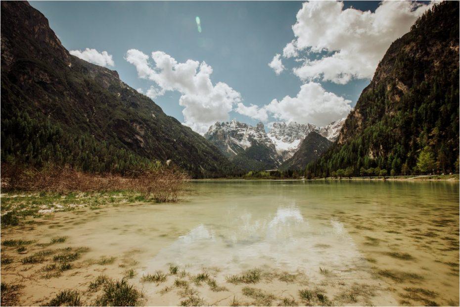 Lake in the Dolomites in Italy