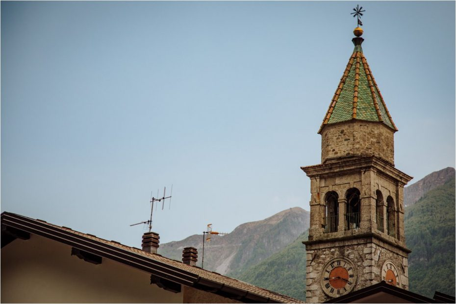Italian church spire photo