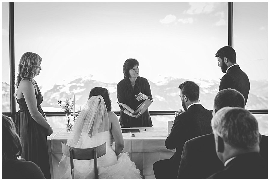 Ski wedding in the Austrian alps a civil ceremony on the top of a mountain by wild connections photography