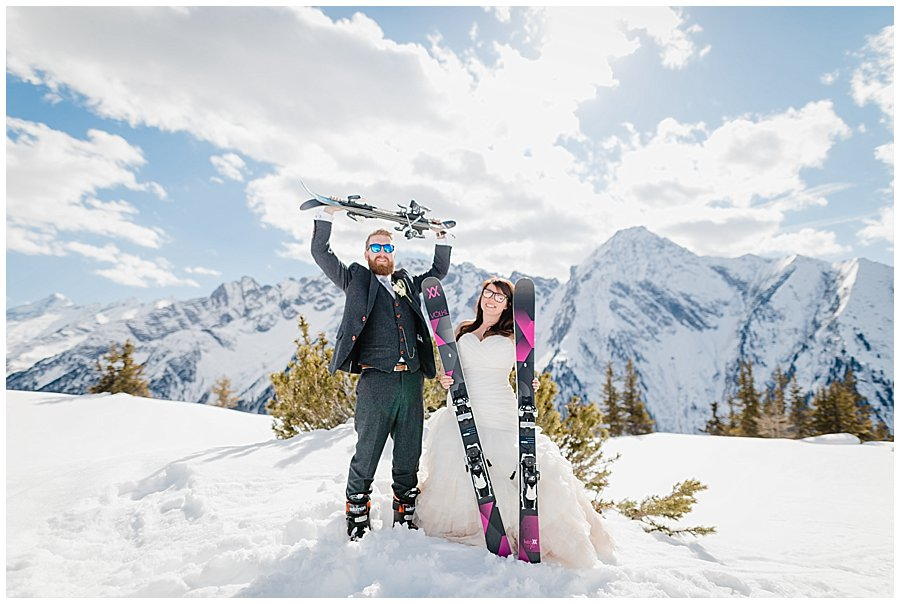 Ski Snowblade Wedding