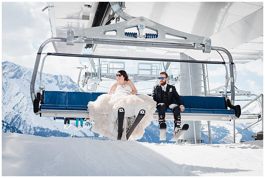 Skiing Bride